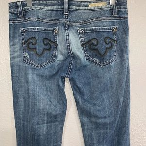 Rerock for Express Distressed Boot Cut Jeans 10R